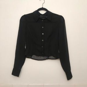 Urban outfitters crop blouse